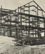 The house under construction, c. 1911-1912