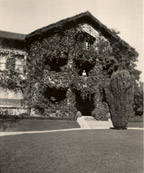 The ivy covered facade, c. 1925-1930